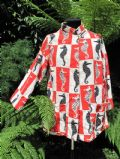 1950's seahorse printed cotton towelling beach cover-up **SOLD**
